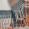 Melbourne Lambswool Throw Saffron fringe detail