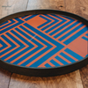 Midnight Chevron Glass Tray