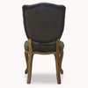 Norton Velvet Button Dining Chair Dark Grey
