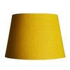 Pooky Straight Empire Lampshade in Yellow Jute with Pink Lining