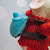 Rambling Mouse Christmas Tree Decoration (detail of back)