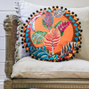 Eleni Malami Chloris Cushion Rust Round