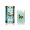 Ortigia Sicilian Candles in Ridged Glass Florio