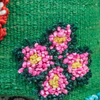 Albanian Knotted Flower Cushion Green Small butterfly detail