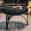 70cm Plain Jane Fire Pit with Swing Arm