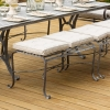 2-seater Antique Finish Backless Garden Dining Bench