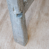 Clovelly Rustic Pine Bench foot detail