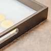 Gold Dotted Line Glass Tray