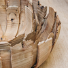 Driftwood Petal Bowls, one inside the other,detail