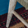 Jared Teak Bar Chair leg detail