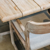 Sally Teak Armchair with Dennis Square Table