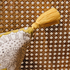 Shimla Curry Cushion (detail of tassel)