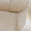 St James Cream Button Back Occasional Armchair, top rear detail