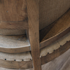 St James Deconstructed Oak Carver Chair, rear detail