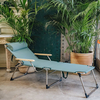 Sage Green Amigo Lightweight Sun Lounger