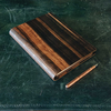 Wooden Cover A5 Notebook, Ebony Amara (pen not included)