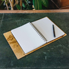 Wooden Cover A5 Notebook, Olive Ash Burr, interior view, pen not included