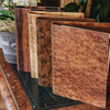 Wooden Cover B5 Notebooks (Camphor Burr in front)