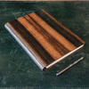 Wooden Cover B5 Notebook, Ebony Amara (pen not included)