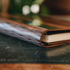 Wooden Cover B5 Notebook, Ebony Amara (spine detail)