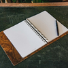 Wooden Cover B5 Notebook, Walnut Burr interior (pen not included)
