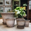 Grey Copenhagen Saucers from Burford Garden Company