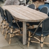 Dan Indoor/Outdoor Teak Dining Table Small with Sophie Wicker Chair