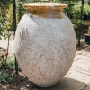 French Olive Pot with Antiqued Glaze