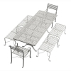 10-Seater Rectangular Garden Dining Bench & Chair Set