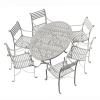 6-Seater (180cm) Oval Garden Dining Set with 6 Carver Chairs
