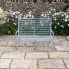 2-seater Verdigris Roll-Top Garden Bench