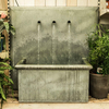 Square Trento Zinc Water Feature