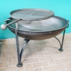 80cm Plain Jane Fire Pit with Swing Arm