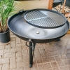 90cm Plain Jane Fire Pit with Swing Arm
