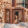 Quaruba XL Mobile Rusted Wood Stove (for outdoors only)