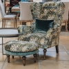 Crawford Stool Rio Olive, with matching Crawford Armchair