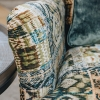 Crawford Armchair Rio Olive, detail of arm