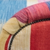 Kilim Chaise Longue, detail of side with brass tacks