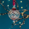 Carousel Glass Bauble - Red