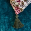 Deoli Salsa Cushion, detail of tassel