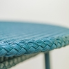 Classic Lloyd Loom Round Coffee Table Teal detail