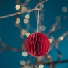 Red Round Paper Bauble