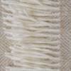 Variegated Herringbone Throw, Beige, detail of tasselling