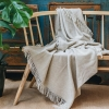 Variegated Herringbone Throw, Beige