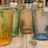 Large Coloured Glass Pitchers