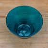Coloured Small Glass Bowls - petrol detail