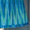 Pooky Straight Empire Shade Teal Ikat by Matthew Williamson - Lit