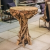 Round Driftwood Bar Table