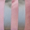 Pink and Mouse Grey Stripe Cushion, detail of embroilered fabric
