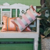 Embroidered Stripe Cushions